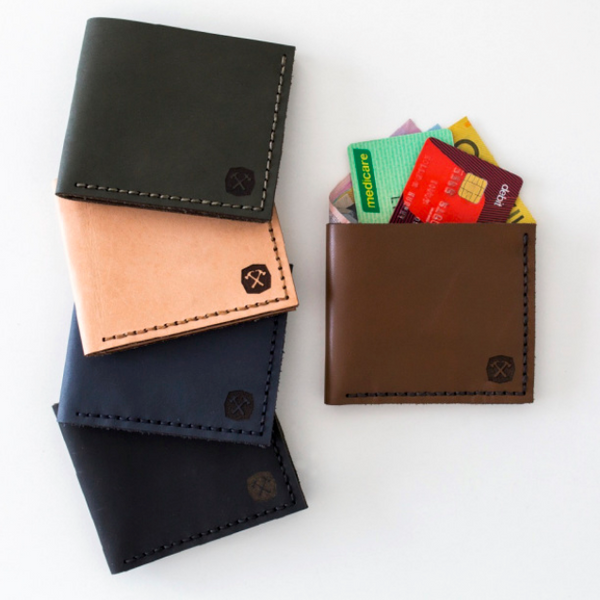 Handmade leather pocket wallet
