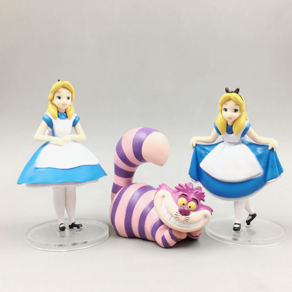 Alice in wonderland cake topper figure