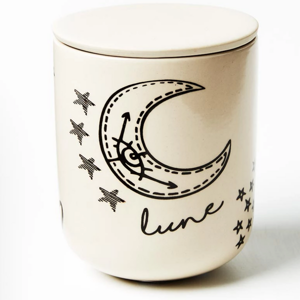 La lune luna moon storage jar / planter pot
