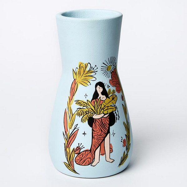 Hand made earthware boho harmony vase - limited edition