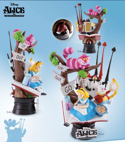 Alice in wonderland collectible diorama cake topper / toy statue