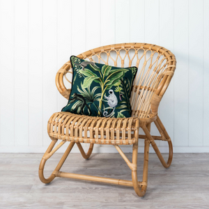 Tropical Monkey cotton & velvet cushion cover