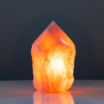 Load image into Gallery viewer, Rose quartz crystal generator love lamp XL