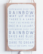 Load image into Gallery viewer, Wizard of oz over the rainbow wall hanging