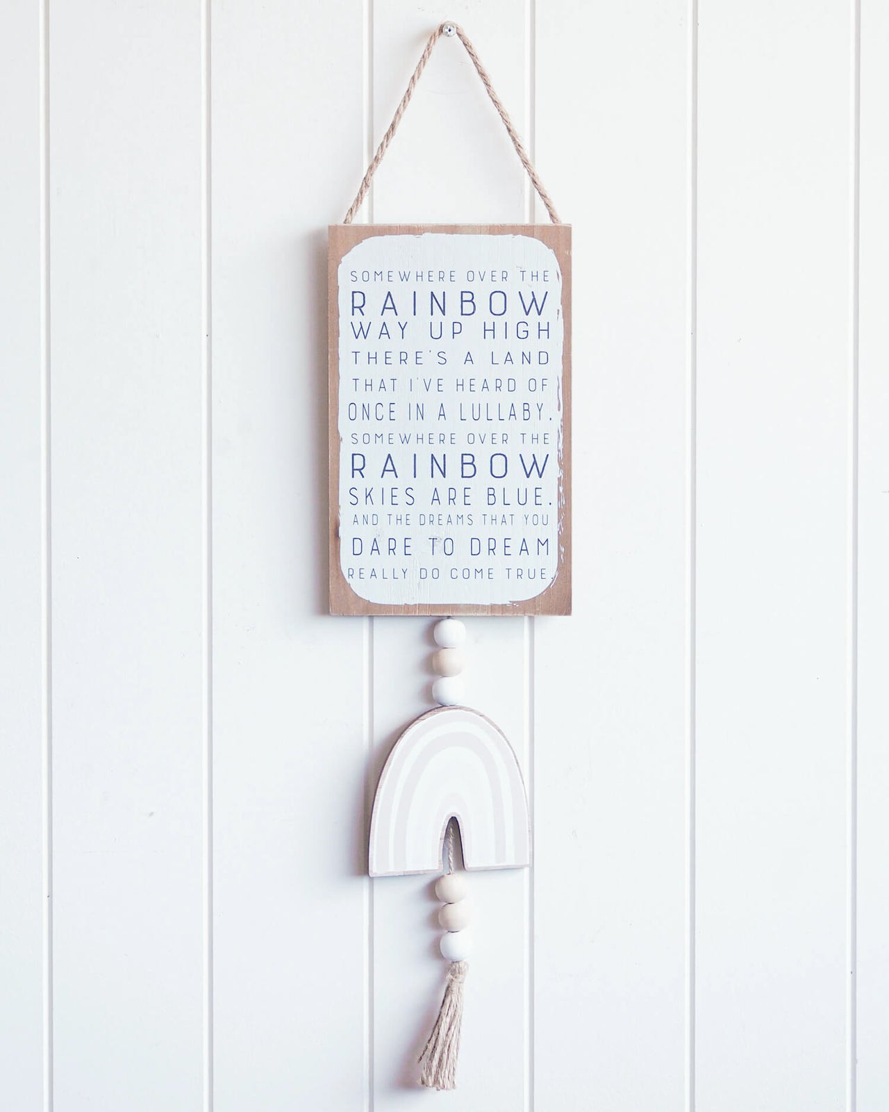 Wizard of oz over the rainbow wall hanging