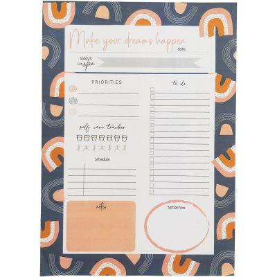 Make your dreams happen desktop planner notepad