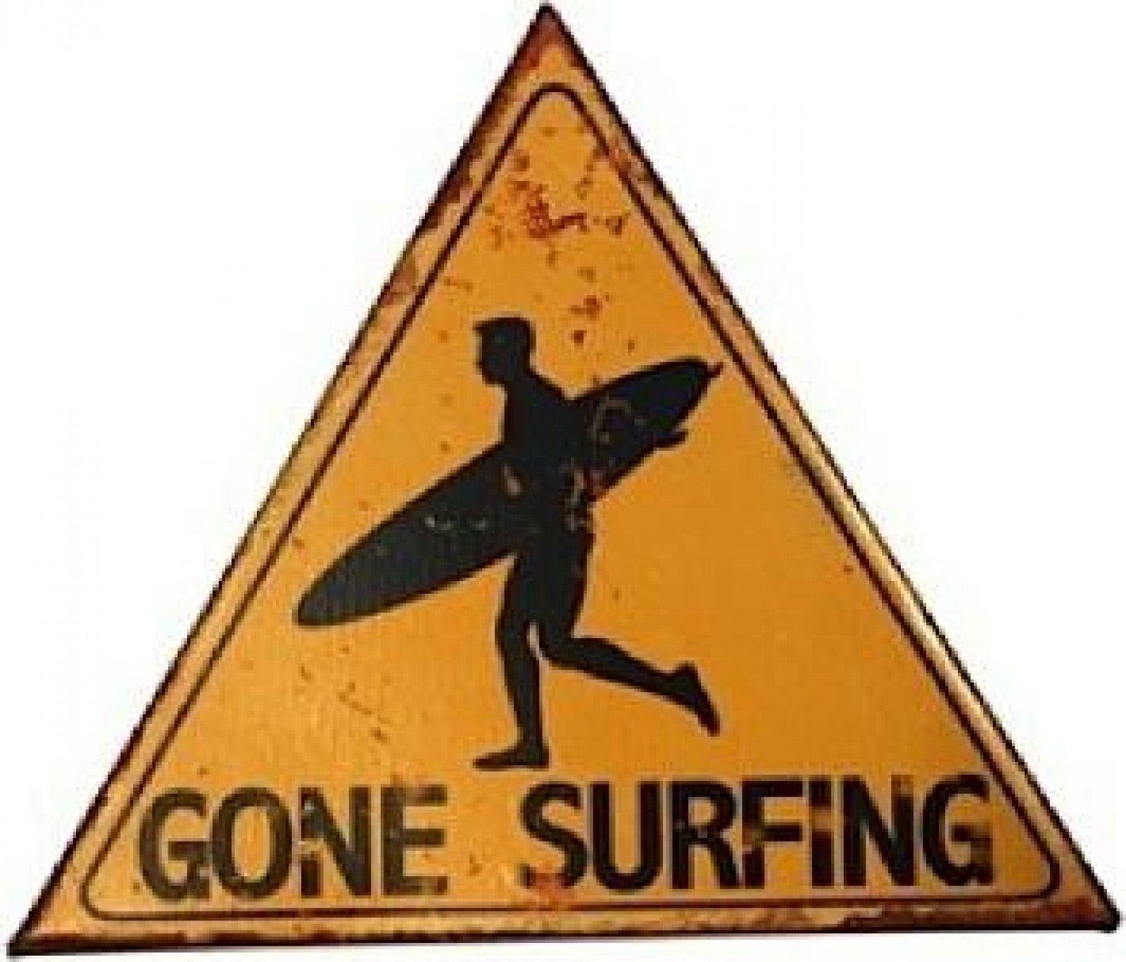 Gone surfing hanging wall tin sign