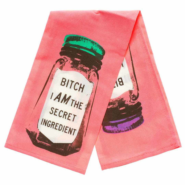 Bitch... secret ingredient dish towel / tea towel