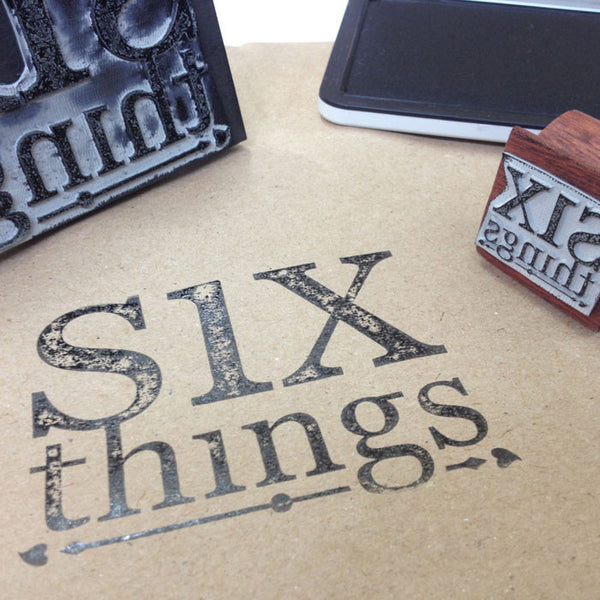 Black ink stamp pad - Six Things - 1