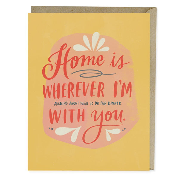 Home dinner with you greeting card