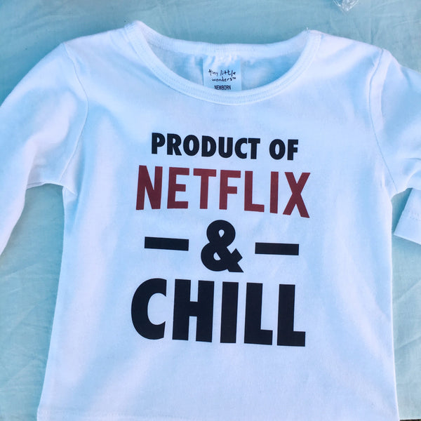 Netflix and chill naughty baby tee / tshirt
