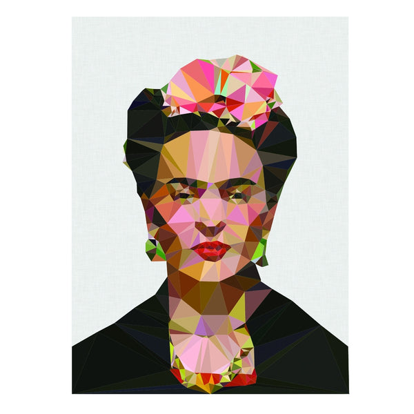 Frida Kahlo geometric portrait print - Six Things