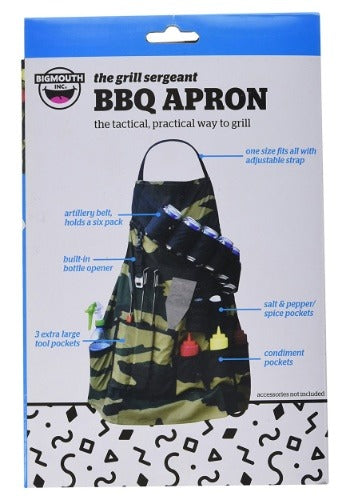 Ultimate man apron / the grill sergeant novelty apron