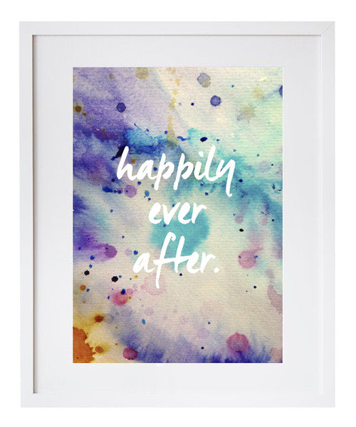 Happily ever after watercolour print - Six Things - 2