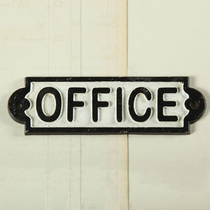 Office cast iron vintage wall hanging sign