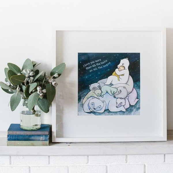 Love you more bears 30cm print