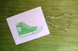 Curious hand cut rubber stamp - Six Things - 5