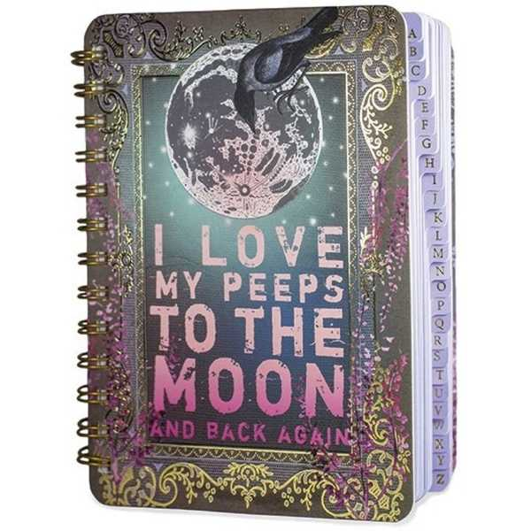 To the moon and back address book journal