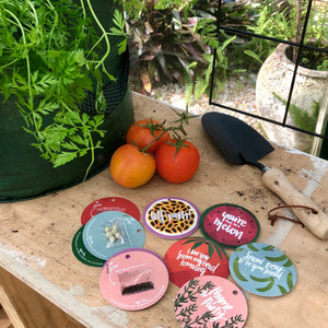 Garden / plant lover / Seed gift tag - various
