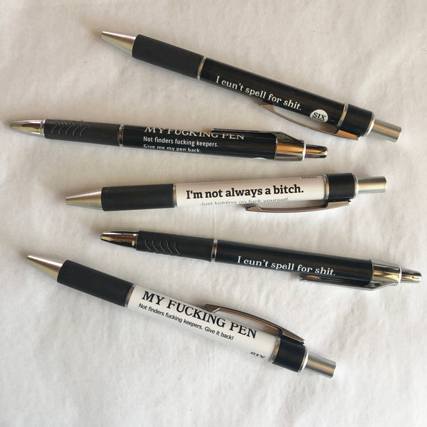 Favourites funny abusive ballpoint pens value pack - various