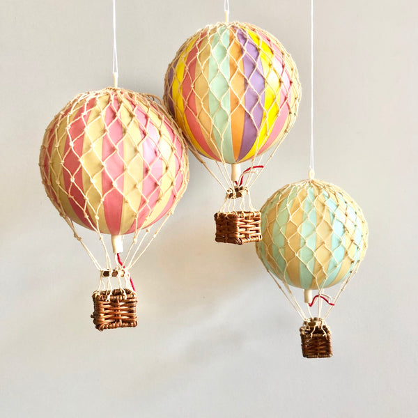 Authentic handmade hot air balloon boho vintage hanging decor - various