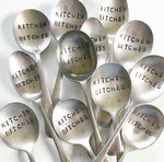 Load image into Gallery viewer, Custom made hand stamped vintage silver cutlery
