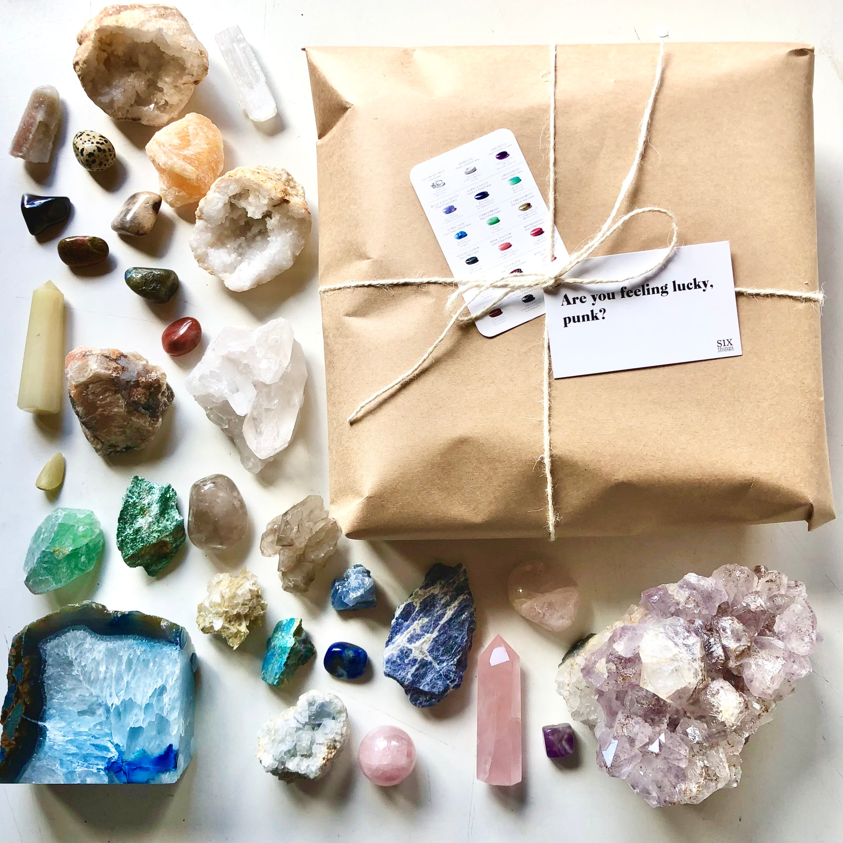 CRYSTAL mystery box - a crystal a day gift box