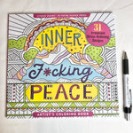 Load image into Gallery viewer, Inner f*cking peace colouring book