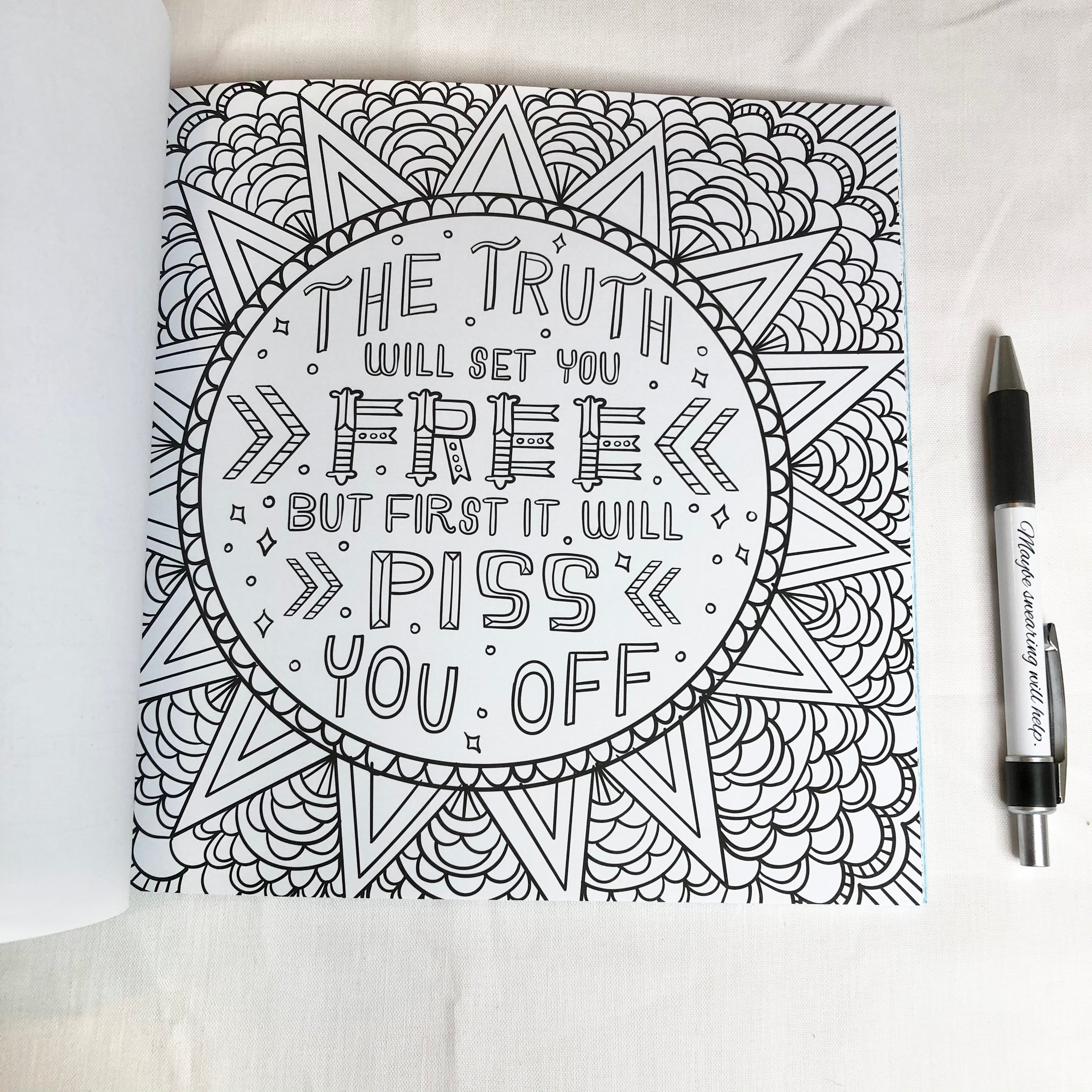 Inner f*cking peace colouring book