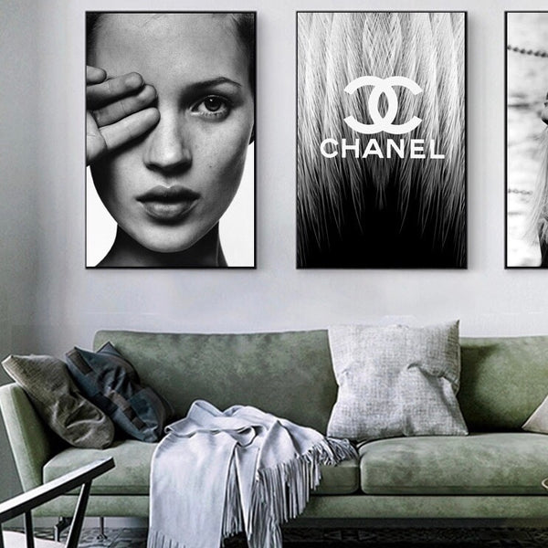 Kate Moss closeup canvas poster print