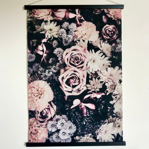 Floral hanging scroll poster print