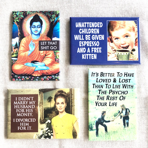 Fun quote naughty kitchen fridge magnet - various