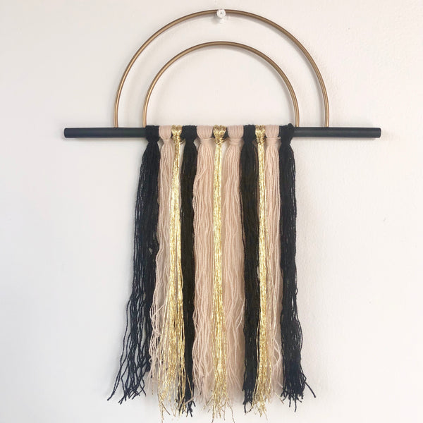 Rainbow tassel dream catcher wall hanging