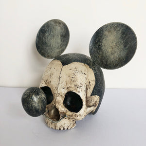 Hand painted vintage Mickey mouse skull collectible art statue - limited edition