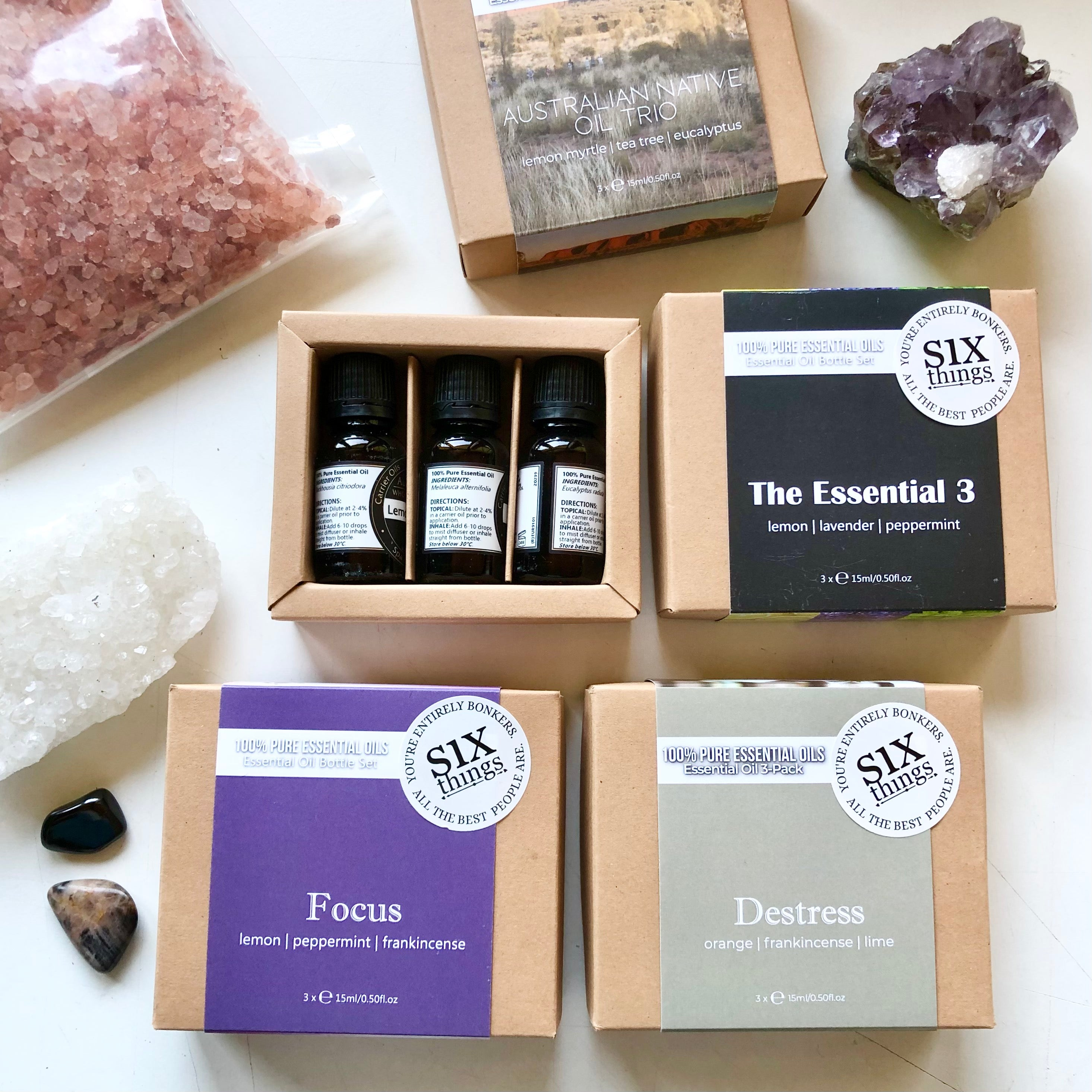 Essential oil / himalayan salt gift pack