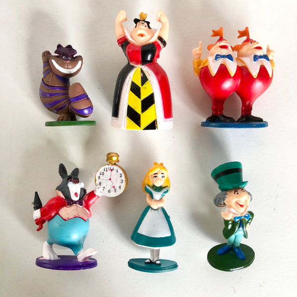 Alice in wonderland cake topper toy figure set