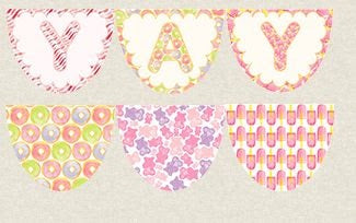 Birthday pretty bunting wall hanging DIY kit