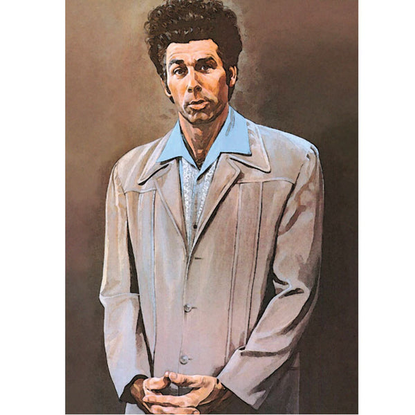 Seinfeld's Cosmo Kramer portrait poster print - Six Things - 2