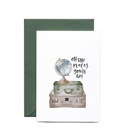 Oh the places you'll go greeting card