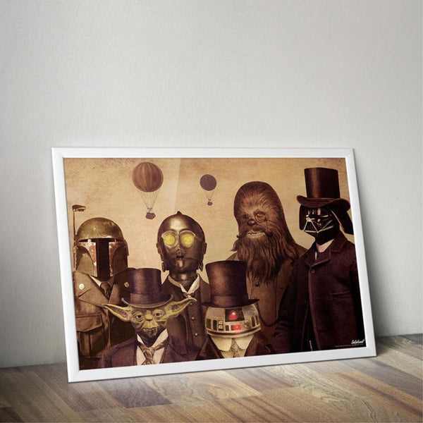 Star wars vintage lords poster print