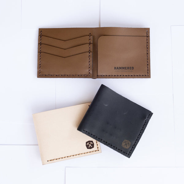 Handmade leather pocket wallet - various