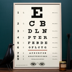Load image into Gallery viewer, Vintage eye chart poster print