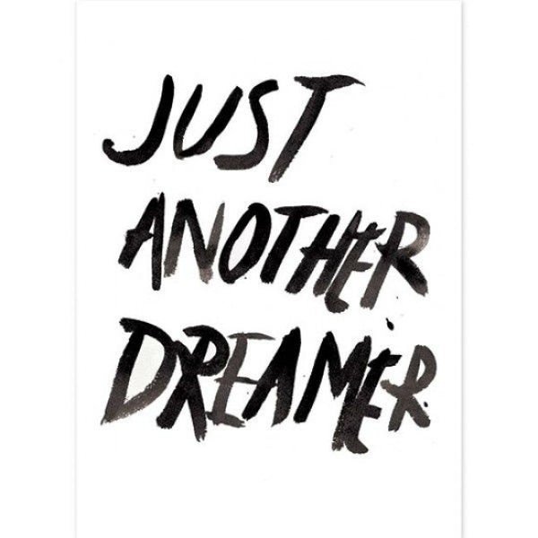 Just another dreamer watercolour print - Six Things - 3