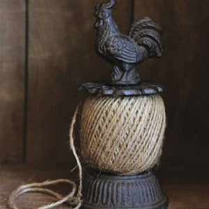 Country decor rooster twine holder