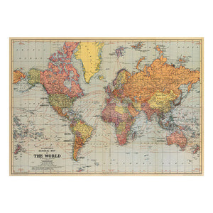 Stans vintage world map poster hanging print - Six Things - 2