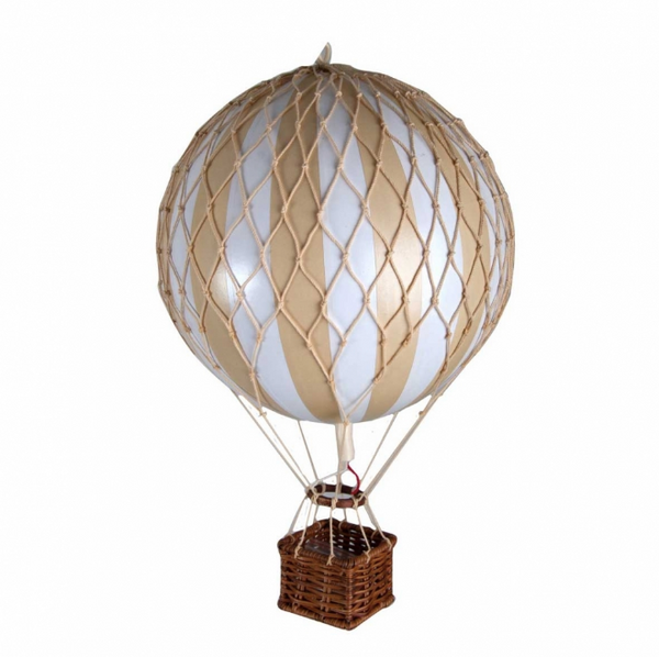 Authentic handmade hot air balloon boho vintage hanging decor