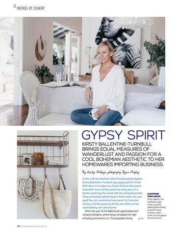 Australian Country Magazine, Sept 2015 - Gypsy Spirit cover page