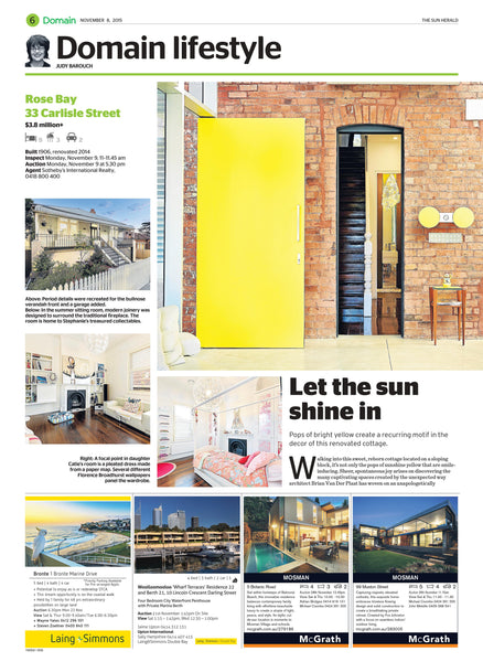 Losari Home & Woman,  Sun Herald - Domain, November 2015, Page 6