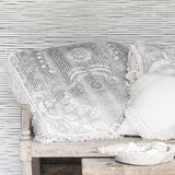 Mehendi Lotus BIG floor / couch Cushion - Cushions - losari - bohemian fashion - white - soft - beautiful