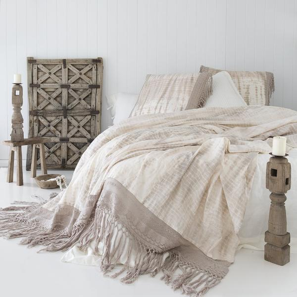 Ananda Sheet / Throw - Throws - losari - bohemian fashion - white - soft - beautiful